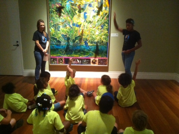 Intern and Docent on tours