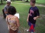 Grabbing a tip from instructor, Jennifer Potts